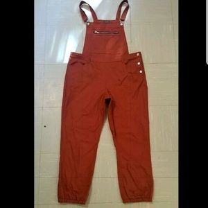 RUST OVERSIZED BAGGY STYLE OVERALLS